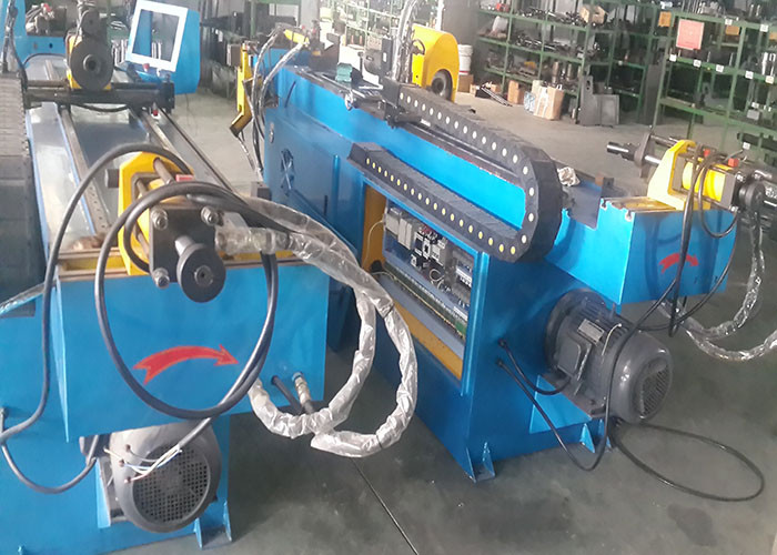 Heating Single Head Hydraulic Tube Bending Machines Water Cooling With 4KW 110V